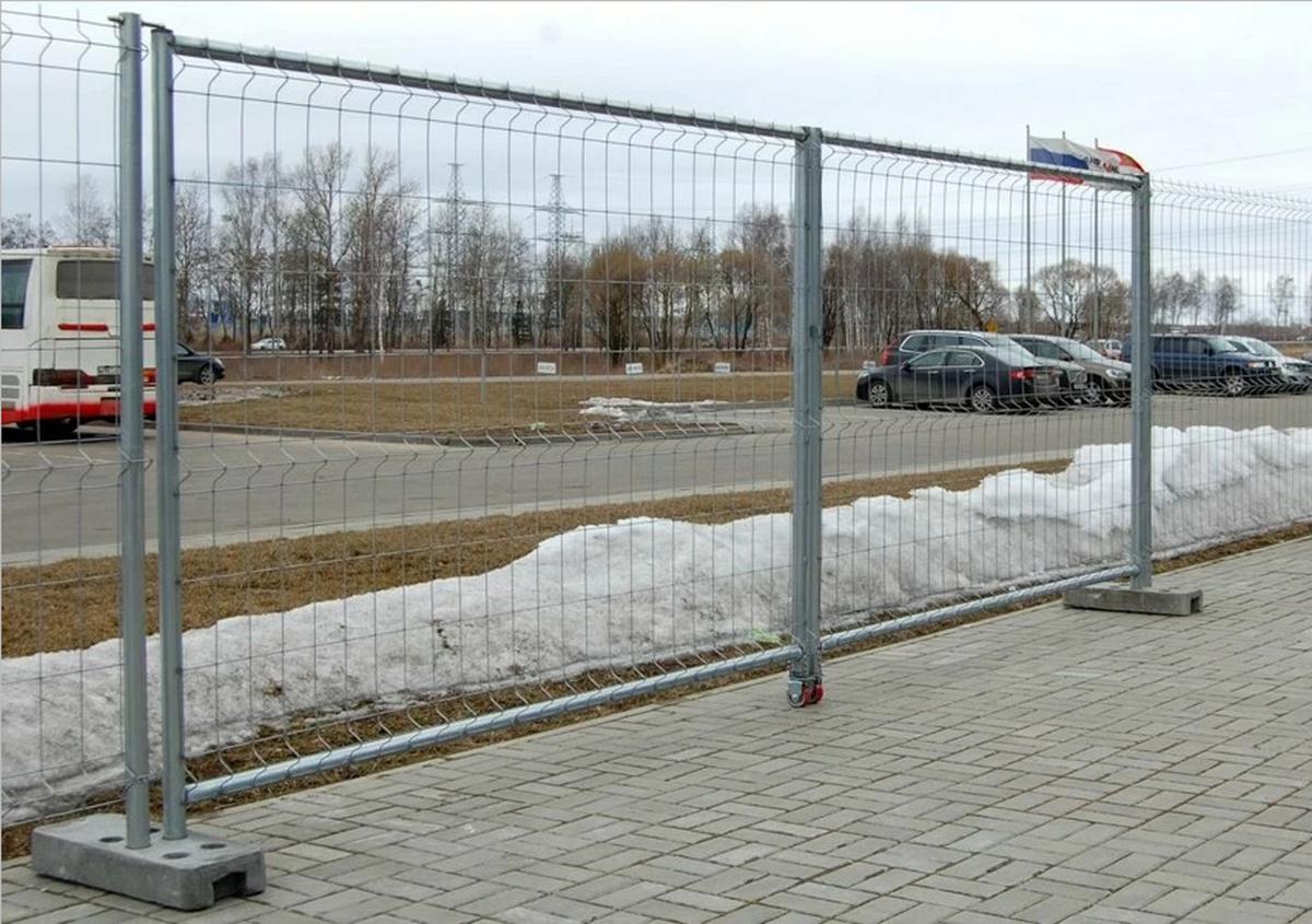 Ворота и калитка для временного ограждения