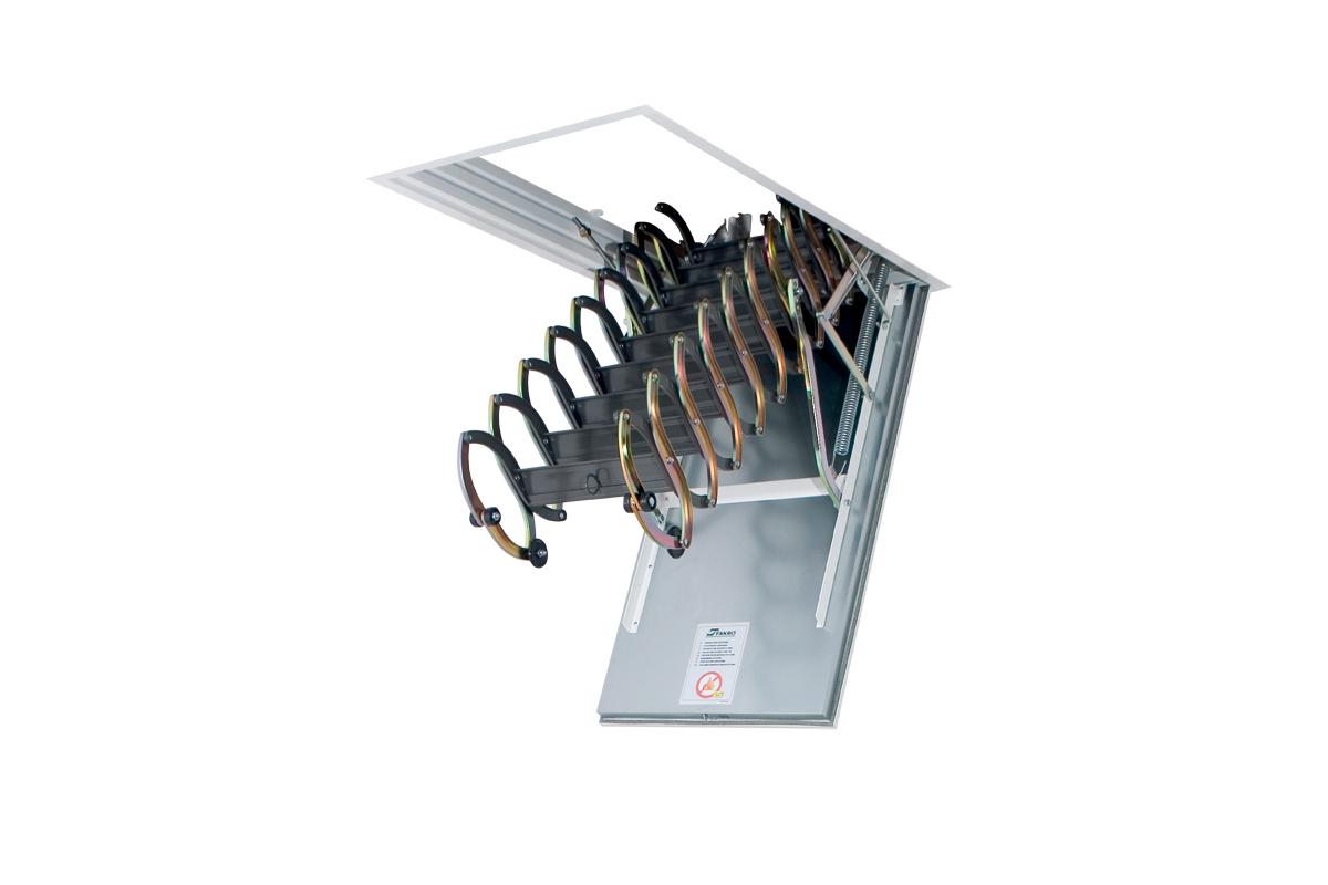 Металлическая чердачная лестница Fakro LSF (огнестойкая)